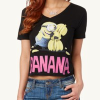 Minion Banana Crop Boxy Tee