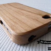 SALE30OFF Natural Wood iPhone 4 Case  Cherry Wood by CocoonByWL