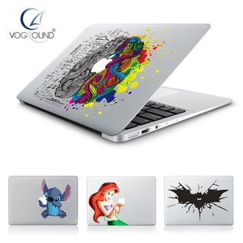 Hot Stitch, Batman, Snow White, Brain Vinyl Decal laptop Sticker for Apple Macbook Pro Air 13 11 15 | Cartoon Skin Cover for Mac book
