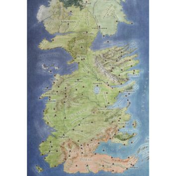 Westeros Map Yoga Mat