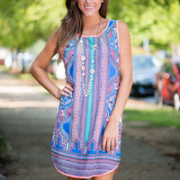 Center Your Chic Dress, Blue