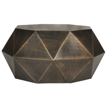 Aiden Copper Drum Coffee Table