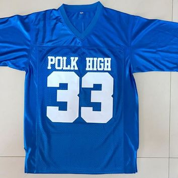 American Football Jersey Married with Children Al Bundy 33 Polk High Football Jersey Blue All Stitched