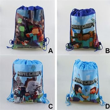 1/2pcs Ladybug Lady Bug COCO Vampirina Minecraft Drawstring Bag Non-woven Fabric Bags School Swimming Backpack Gift Bag