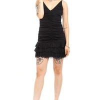 Vintage 90's Gothic Pixie Mini Dress - XS/S