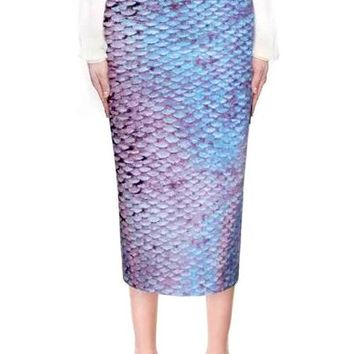 Shimmering Fish Scale Skirt