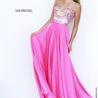 Sherri Hill 1942 Beaded Chiffon Prom Dress