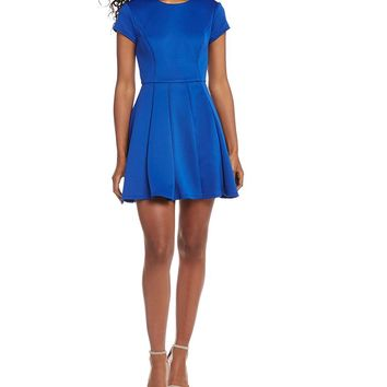 B. Darlin Cap Sleeve Fit-And-Flare Dress | Dillards