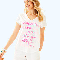 Colie Top | 30456-multihappinesscolieteegraphicfront | Lilly Pulitzer