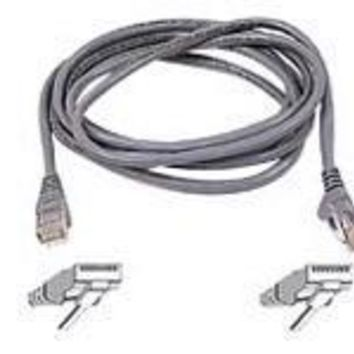 Belkin Components 7ft Cat6 Snagless Patch Cable, Utp, Gray Pvc Jacket, 23awg, 50 Micron, Gold Plat