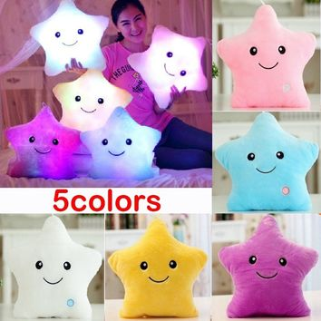 VENFLON LED Bright Light Up Glowing Throw Pillow Soft Cosy Cushion Star Cute Shape Decor HOOD