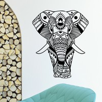 Wall Decal Vinyl Sticker Animal Elephant Yoga Indian Decor Sb1056
