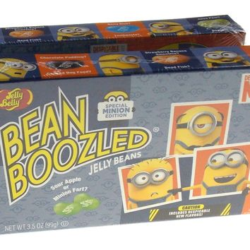 Jelly Belly Minions Despicable ME Bean Boozled Jelly Beans 3.5 oz Spinner Lot 2