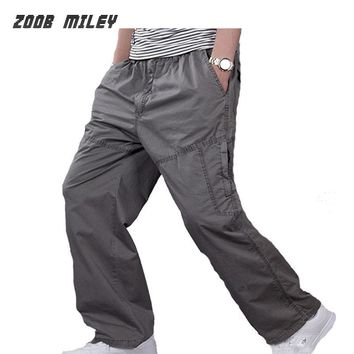 Plus Size XL-6XL Military Cargo Pants Causal Men Workout Pants Fashion Multi-Pocket Trousers