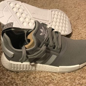 Adidas NMD R1 Runner Boost (S31503) Solid Grey White Mens Trainers Mesh