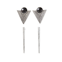 FOREVER 21 Triangle Earring Set Burn.S/Black One