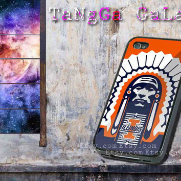 iphone case,Illinois Fighting Illini football,iphone 5 case,iphone 4/4s case,samsung s3,s4 case,accesories,cell phone,hard plastic.