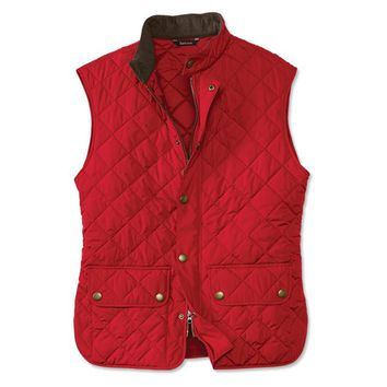 Lowerdale Quilted Gilet in Red by Barbour