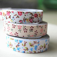 Floral fabric tape Set of 3 by RhinoandRoo