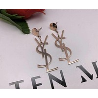 YSL Moschino Trending Women Metal Letter Earrings Stud Earrings 9#