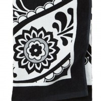 Vera Bradley Midnight Paisley Beach Towel