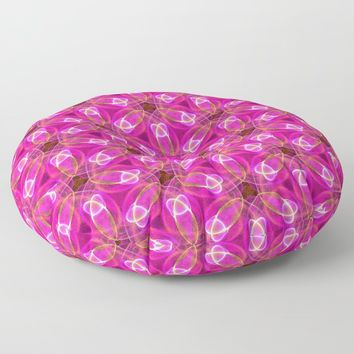 Elegant Pink Pattern Floor Pillow by kasseggs