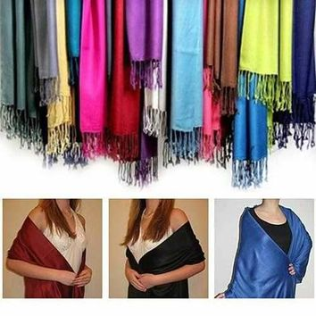 Privilege Pashmina Shawls With Fringe Benefits