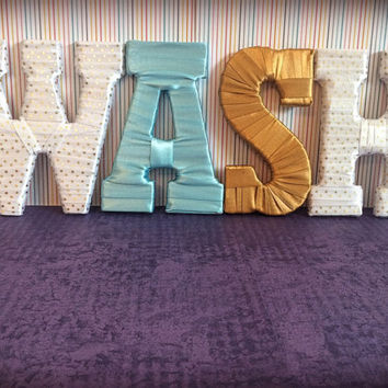 Laundry Room Decor-Wash Decorative Letter Set by Tightly Wound Designs
