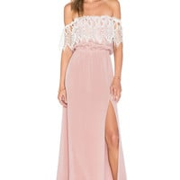 STONE_COLD_FOX Rupp Maxi Dress in Rose