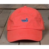 Hat in Washed Coral with Navy Duck by Southern Marsh