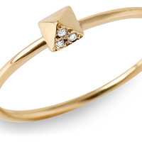 Diamond Pyramid Ring, 14K Yellow Gold, Stone & Novelty Rings