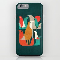 Flock of Birds iPhone & iPod Case by Budi Kwan