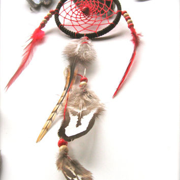 Dreamcatcher dream catcher  Car Accessory Small Hippie Dreamcatcher Car Dreamcatcher   Gift for him Car Mirror Charm