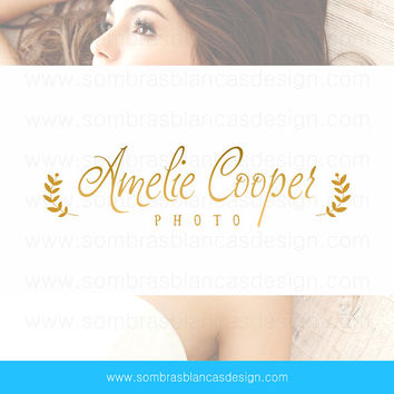 OOAK Premade Logo Design - Golden Name - Perfect for a wedding photographer or a jewelry designer