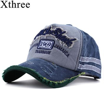 Xthree hot retro baseball cap fitted cap snapback hat for men gorras casual casquette Letter embroidery