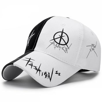 Pop Punk Fashion Embroidered Baseball Cap