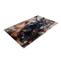 "Steve Dix ""Looking for Water"" Brown Black Woven Area Rug"