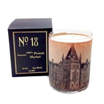 Wood Candle No. 18 1920's French Market