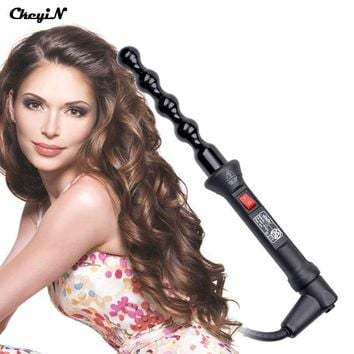 110-240V Professional Hair Curler Ceramic Roller Bead Curling Wand Machine, Women Magic Curls Styling Tools, Hair Iron Curler 56