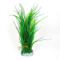 "17"" Height Green Aquascaping Plastic Plant Grass for Fish Tank"