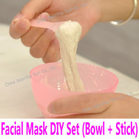 4# Facial Mask Bowl & Stick Set Kit Women Lady Female Cosmetic Spatula Scoop DIY Mixing Spoon Makeup PET Face Care Tools 10.4cm