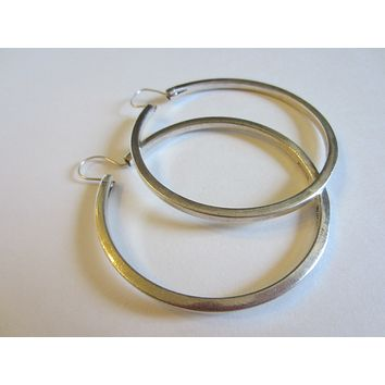 Sterling Silver Hoop Earrings Marked In Etch Mexico 925