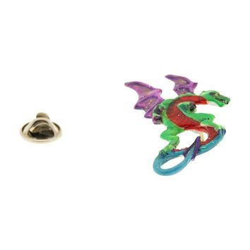 Medieval Dragon Pin ~ Hand Painted ~ Lapel Pin