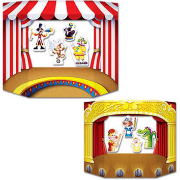 Puppet Show Theater Photo Prop Case Pack 6
