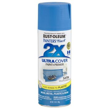 Rust-Oleum® 249062 Painter's Touch® 2X Spray Paint, Satin Wildflower Blue, 12 Oz