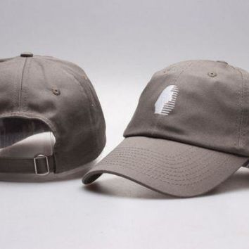 DCCKUNT The New Last Kings Visor Unisex Outdoor Couple's Cotton Baseball Cap - Gray