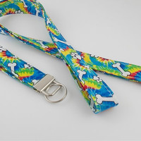 Rainbow Dog Lanyard Dog Bone Lanyard Dog Lovers Lanyard Dog Trainer Lanyard Dog Key Fob Pet Key Fob Dog Bone Key Fob Dog Lovers Key Fob