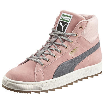 Suede Winterized Rugged Mid Women's Sneakers - US