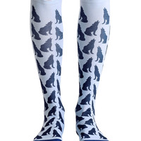 Howling Wolf Knee High Socks