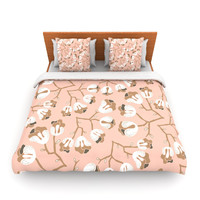"""Very Sarie """"Hope for the Flowers III"""" Pink White Lightweight Duvet Cover"""